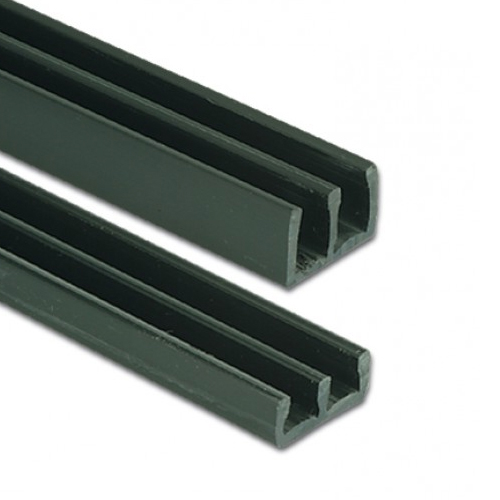 6mm Heavy Duty Plastic Sliding Track Bottom Black