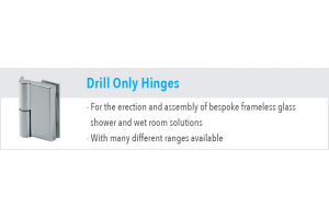 Drill Only Shower Hinges