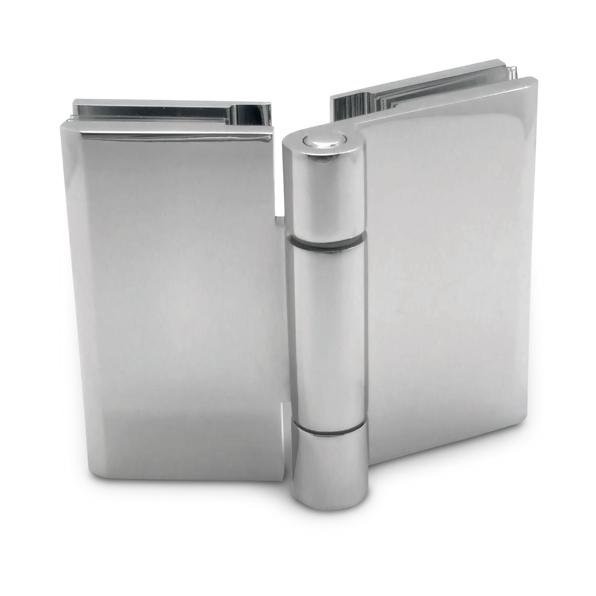 Shower Hinge Free Swing Glass To Glass Satin Chrome