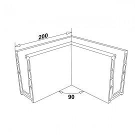 Eazi-Rail Surface 90 Degree Internal Corner - SS Effect