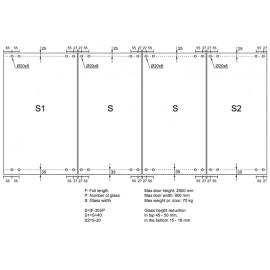 Bi-Fold Top Guide Track 3 Mtr
