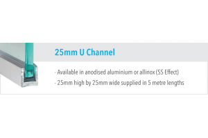 25mm U Channel