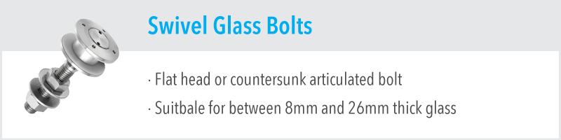 Swivel Glass Bolts