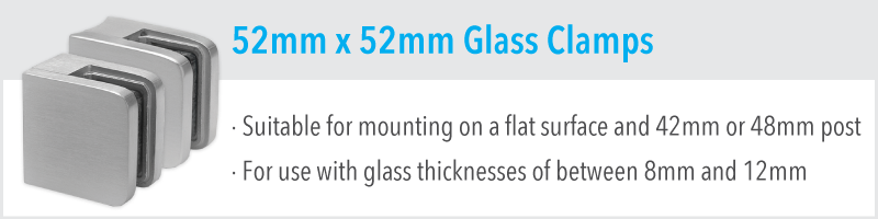 52mm x 52mm Glass Clamp