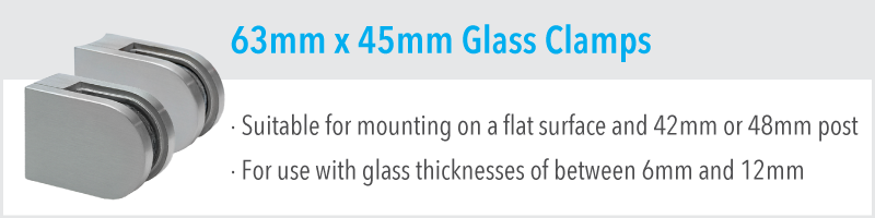 63mm x 45mm Glass Clamp