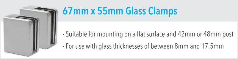 67mm x 55mm Glass Clamp