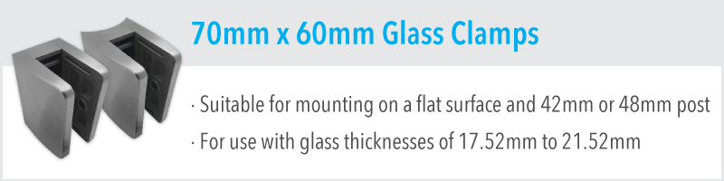 70mm x 60mm Glass Clamp