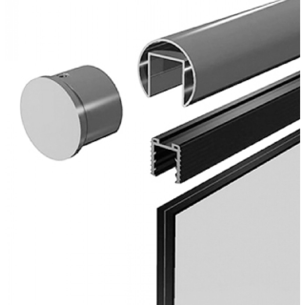 Slotted Stainless Steel Handrail