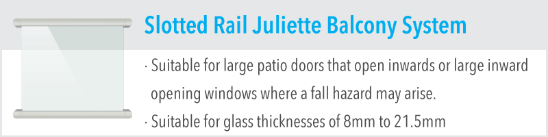 Slotted Rail Juliette Balcony System