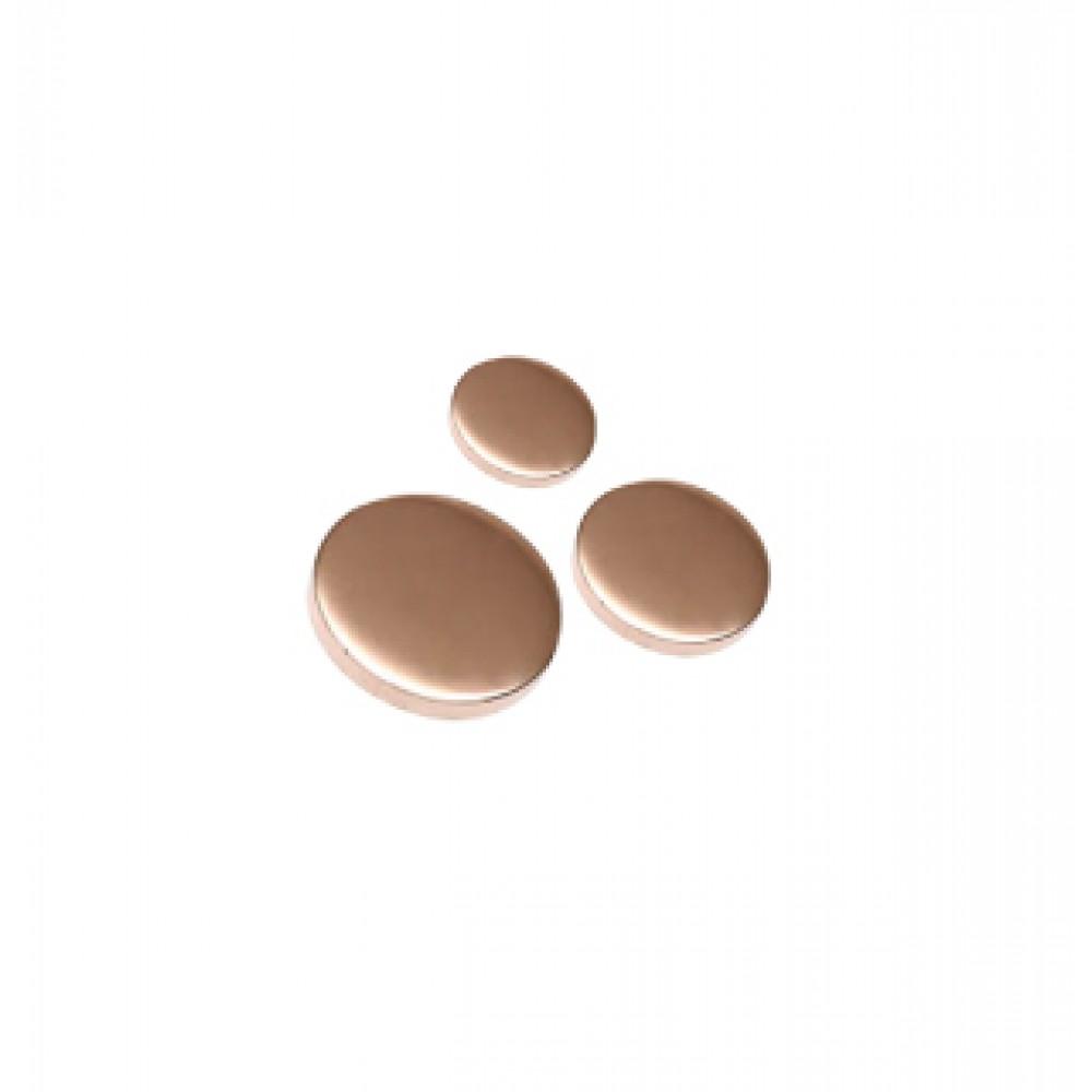 Copper & Laquered Flat Caps