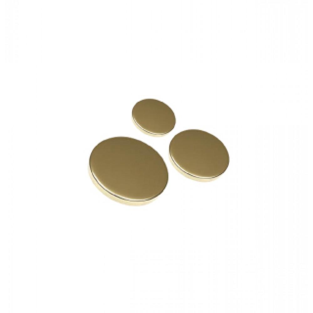 Polished Brass Flat Caps
