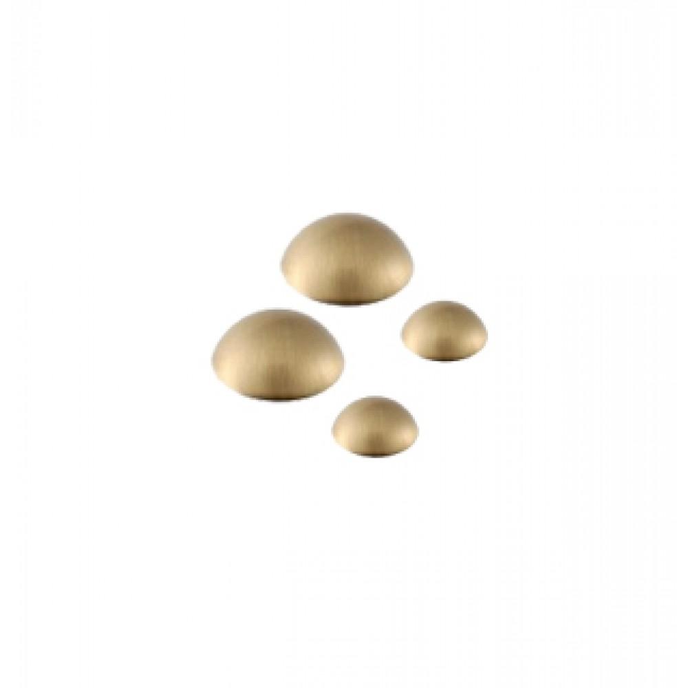 Satin Brass Dome Caps