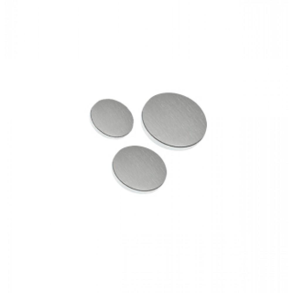 Satin Chrome Flat Caps