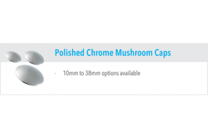 Polished Chrome Mushroom Caps