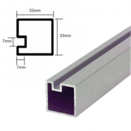 Counter Posts End Piece - 6mm Glass - 1.8 Metres