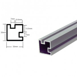 Counter Posts Corner Piece  6mm Glass 1.8 Mtr