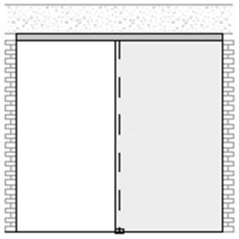 Portavant 120 - 1 Sash & Side Panel - Ceiling - 2996mm - Al