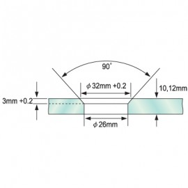 Single Point Partition Fitting 8 -12mm Glass