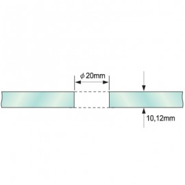 Single Point Partition Fitting For 8-12mm Glass