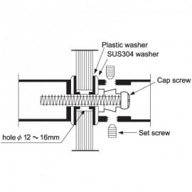 350mm Door Handle - Satin Stainless