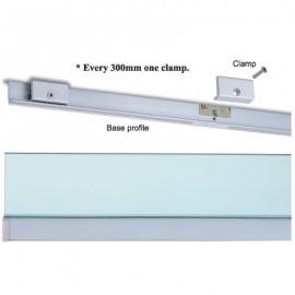 Wall Profile System 10mm Glass 3M (Alu)
