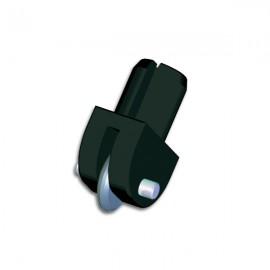 Plastic Wheel Holder 120 deg L Blue (Wire Axle)