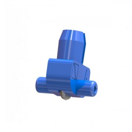 Wheel Holder120 deg light Blue (Plastic Axle) 1-1.5mm Glass