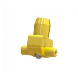 Wheel Holder 127 deg Yellow (Plastic Axle) 1.5-2mm Glass