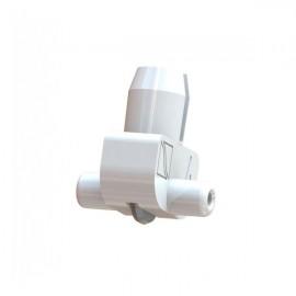 Wheel Holder 135 deg White (Plastic Axle) 3-4mm Glass