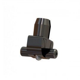Wheel Holder 145 deg Black (Plastic Axle) 5-6mm Glass