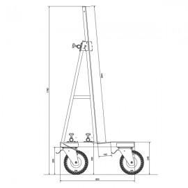600kg Glass/Window/Slab Transport Dolly