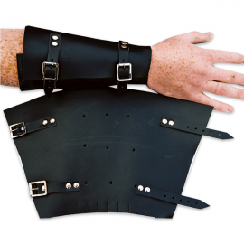 Leather Wrist Protectors With Buckles