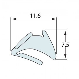 Tear Off Clear Dry Glazing Wedge Gasket - Thick - Clear