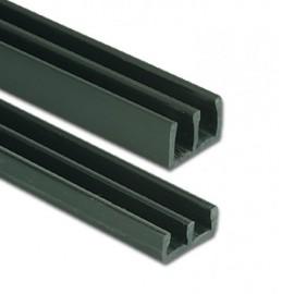 6mm Heavy Duty Plastic Sliding Track - Bottom - Black