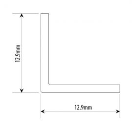 Polished Aluminium Right Angle 13x13mm 3.66M