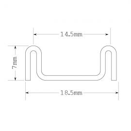 Alum Sliding Track - Bottom
