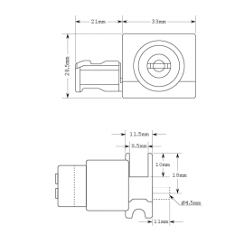 Alum. Sliding Track Lock - Reversible