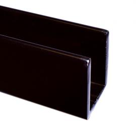 15mm Black U Channel - 10mm Thick Glass