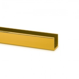 15 mm Polished Gold U Channel 10mm Glass