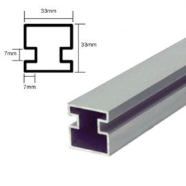 Counter Posts Centre Piece 6mm Glass 1.8 Mtr
