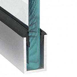 Dry Glazing U Channel 50x25x19 Groove Brushed Satin Anodised