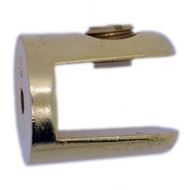 Round Shelf Support - 8mm to 10mm Glass - Gold Finish