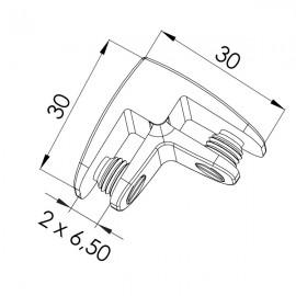 2 Way Assembly Bracket - Polished Chrome