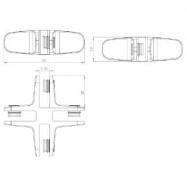 4 Way Assembly Bracket - Matt Chrome