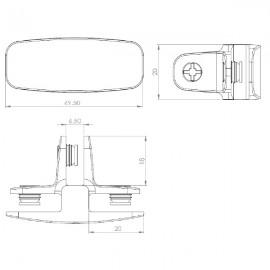 3 Way Assembly Bracket (T Joint) - Matt Chrome
