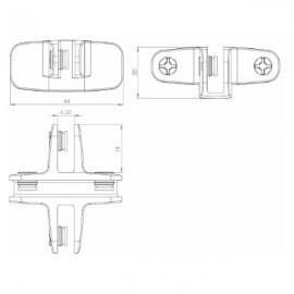 4 Way Assembly Bracket Closed Type - Polished Chrome