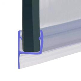 H Jamb Seal - 6mm Glass - 8mm Soft Fin