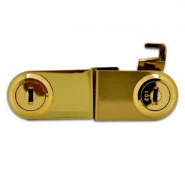 Double Door Lock Gold