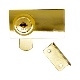 Extended Type Double Swing Door Lock Gold