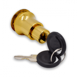 Push Type Cylinder Lock For Sliding Doors Gold